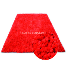 Tapis de tapis en polyester Shagy en couleur simple